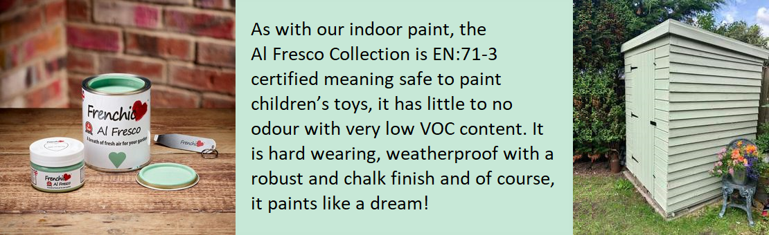 AL FRESCO - ENVIRONMENTALLY FRIENDLY CHALK & MINERAL PAINT